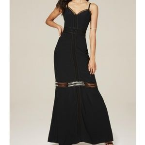 NWT Bebe black Maxi Crepe Dress
